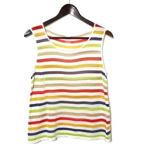 Anne Klein Knit Muli-Colored Striped Tank